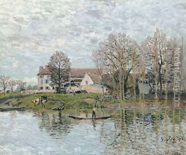 Bords de Seine à Port-Marly Oil Painting - Alfred Sisley
