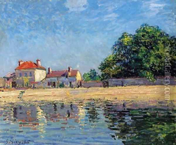 Bords du Loing, Saint-Mammes Oil Painting - Alfred Sisley