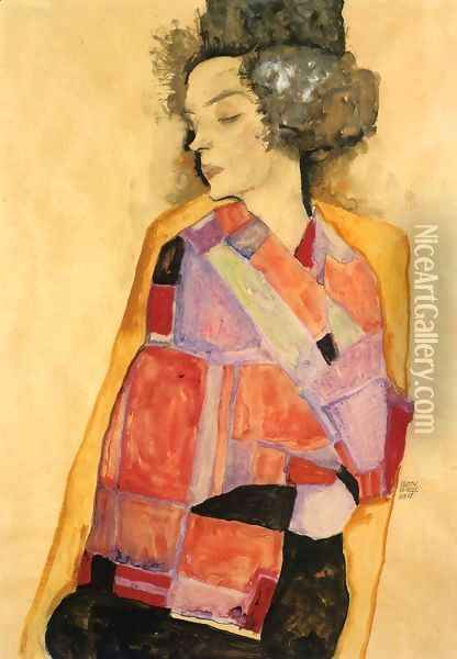 The Daydreamer (Gerti Schiele) Oil Painting - Egon Schiele