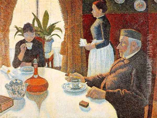 The Dining Room 1887 Oil Painting - Paul Signac