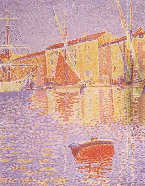 Buoy, Port of St. Tropez, 1894 Oil Painting - Paul Signac