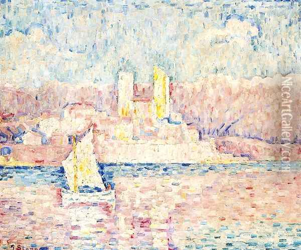 Cap d'Antibes Oil Painting - Paul Signac