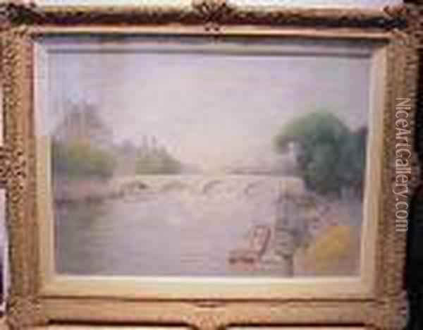 La Seine Au Pont Royal Oil Painting - Pierre Ernest Prins