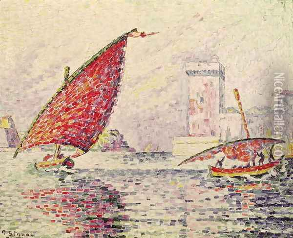 Fort Saint-Jean, Marseilles, 1907 Oil Painting - Paul Signac