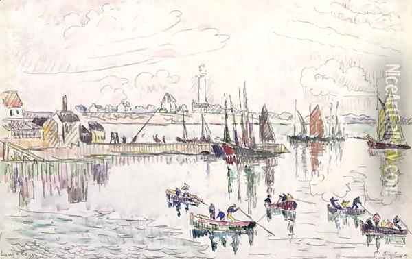 The Port of Lomalo, Brittany, 1922 Oil Painting - Paul Signac