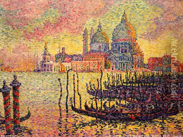 Entrance to the Grand Canal, Venice Oil Painting - Paul Signac