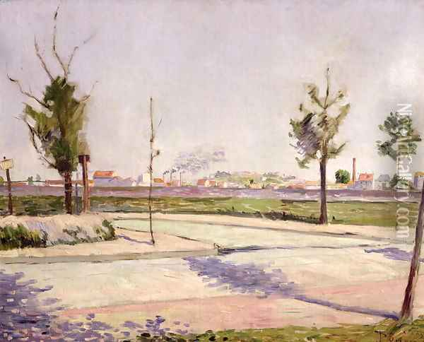 The Road to Gennevilliers, 1883 Oil Painting - Paul Signac