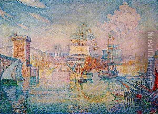 Entrance to the Port of Marseilles Oil Painting - Paul Signac