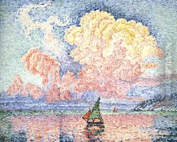 The Pink Cloud, Antibes Oil Painting - Paul Signac