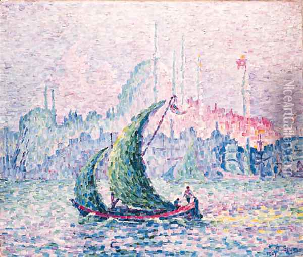 La Cte d'Or, La Sulemanie, Constantinople Oil Painting - Paul Signac