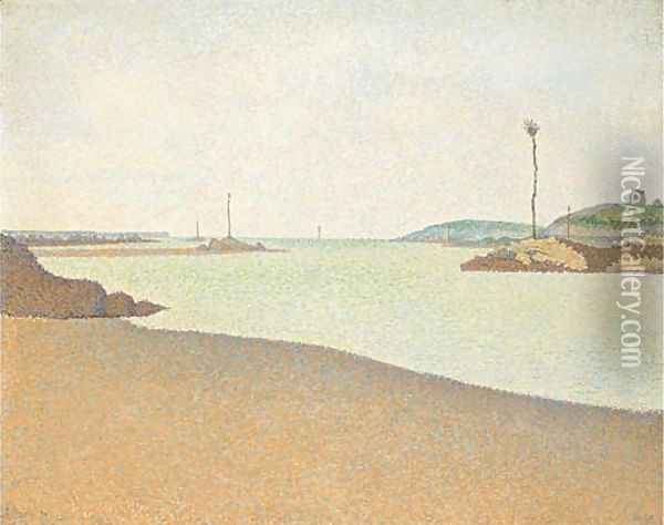 Les Balises, Saint-Briac Oil Painting - Paul Signac