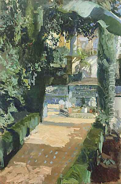 Court of the Dances, Alcázar, Sevilla Oil Painting - Joaquin Sorolla Y Bastida
