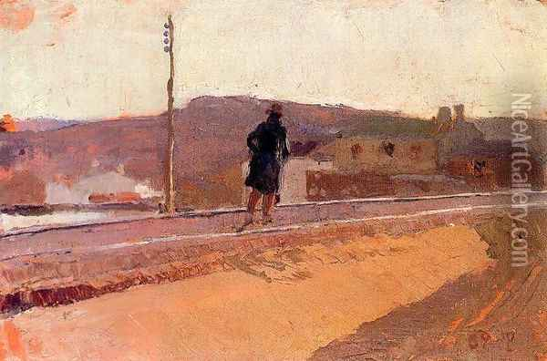Landscape with figure Oil Painting - Joaquin Sorolla Y Bastida