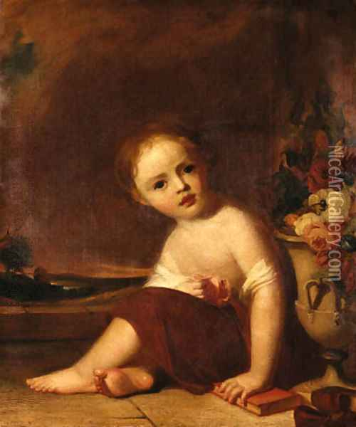 Portrait of a Child Oil Painting - Thomas Sully