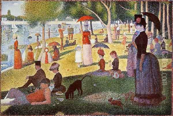 A Sunday Afternoon on the Island of La Grande Jatte Oil Painting - Georges Seurat