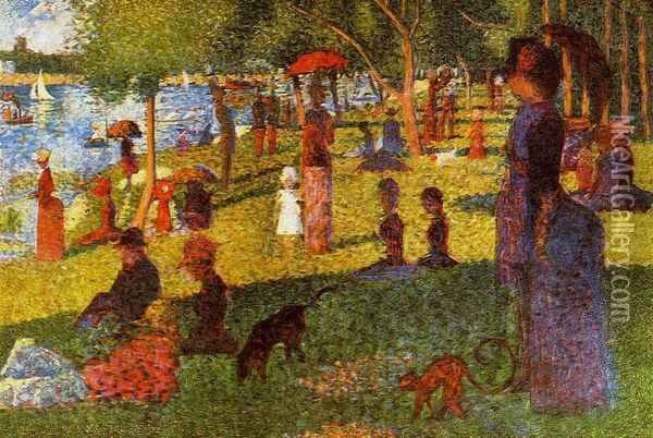 An Afternoon at La Grande Jatte Oil Painting - Georges Seurat