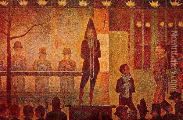 Invitation to the Sideshow Oil Painting - Georges Seurat