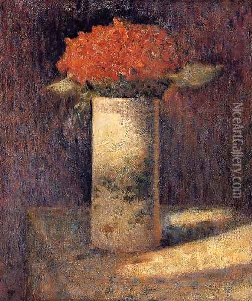 Boquet in a Vase Oil Painting - Georges Seurat