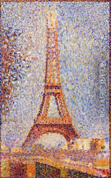 The Eiffel Tower Oil Painting - Georges Seurat
