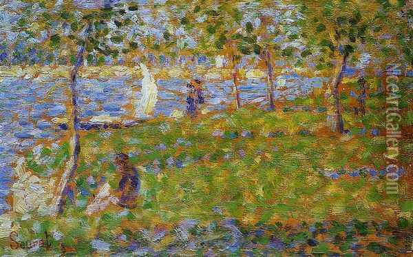 Sailboat Oil Painting - Georges Seurat
