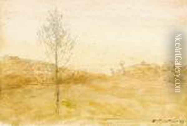 Paysage Oil Painting - Francois Auguste Ravier