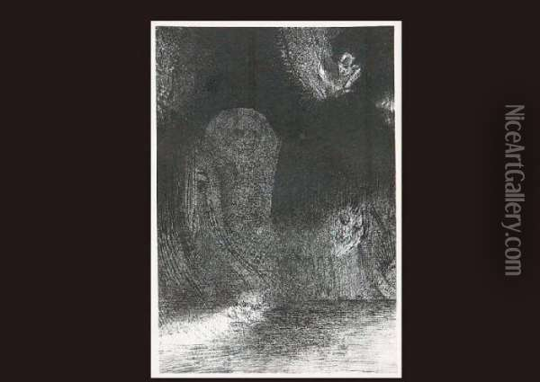Temptation Of St.antoine Oil Painting - Odilon Redon