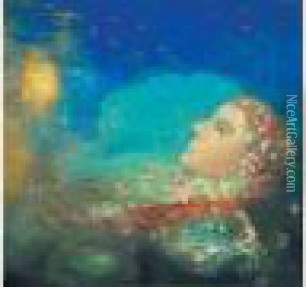 Ophelie Oil Painting - Odilon Redon
