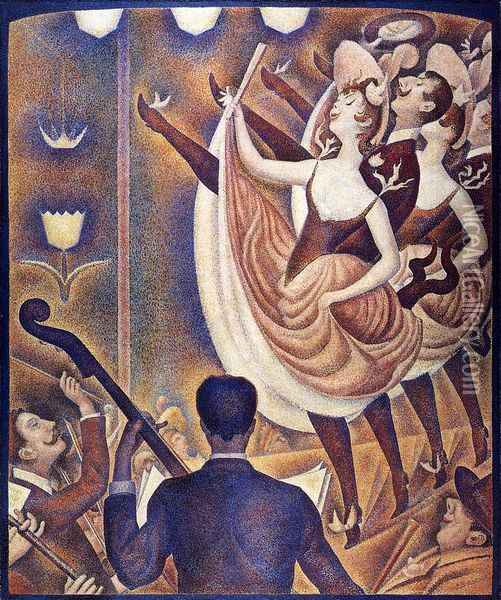 Chahut Oil Painting - Georges Seurat