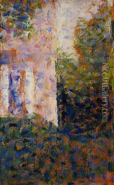 Corner of a House Oil Painting - Georges Seurat