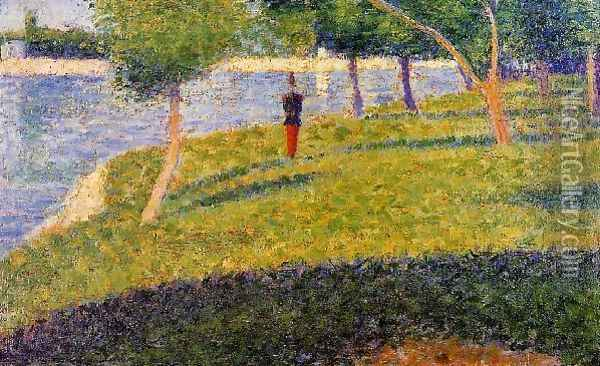 Cadet from Saint-Cyr Oil Painting - Georges Seurat