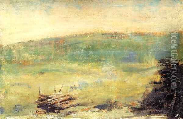 Landscape at Saint-Ouen Oil Painting - Georges Seurat