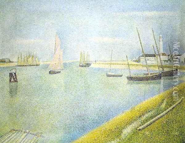The Channel at Gravelines, in the Direction of the Sea Oil Painting - Georges Seurat