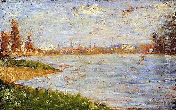 The Riverbanks Oil Painting - Georges Seurat