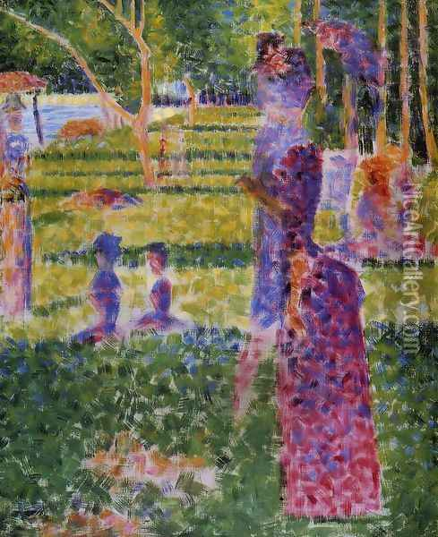 The Couple Oil Painting - Georges Seurat