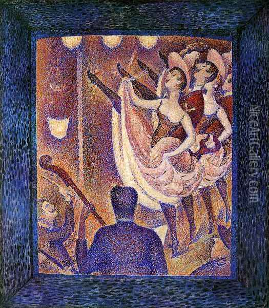 Study for 'Chahut' Oil Painting - Georges Seurat