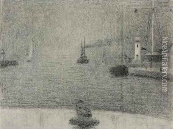 The Port of Honfleur Oil Painting - Georges Seurat