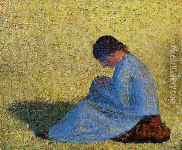 Seated Woman Oil Painting - Georges Seurat