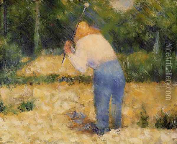 The Stone Breaker Oil Painting - Georges Seurat