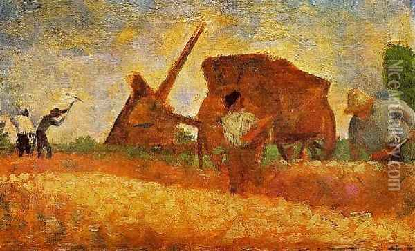 The Stone Breakers Oil Painting - Georges Seurat