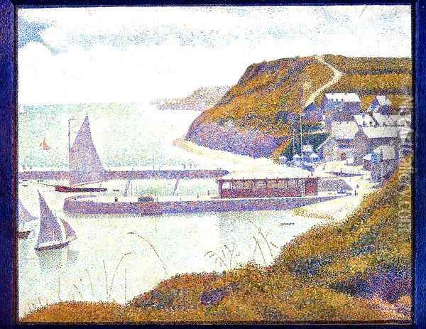 Port-en-Bessin, The Outer Harbor, High Tide Oil Painting - Georges Seurat