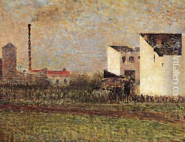 Suburb Oil Painting - Georges Seurat