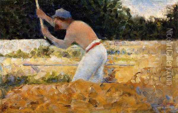 The Stone Breaker I Oil Painting - Georges Seurat