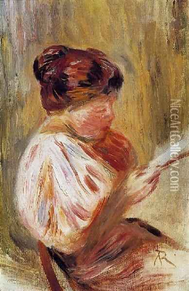 Woman Reading Oil Painting - Georges Seurat