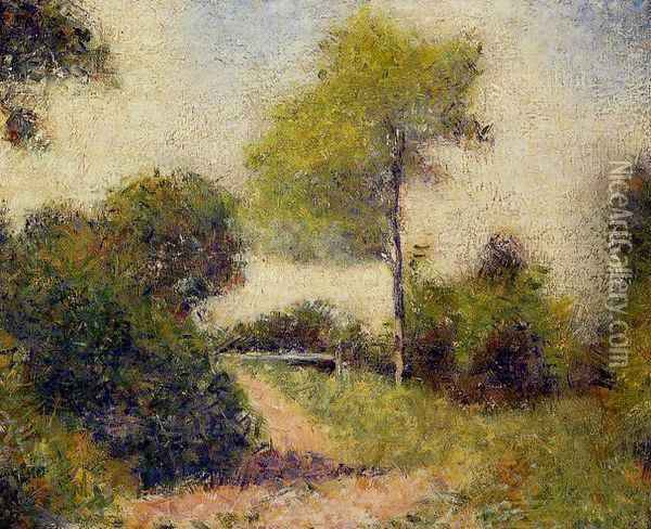 The Hedge Oil Painting - Georges Seurat