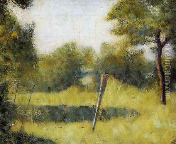 The Clearing Oil Painting - Georges Seurat