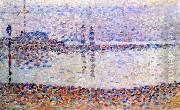 Study for 'The Channel at Gravelines' Oil Painting - Georges Seurat