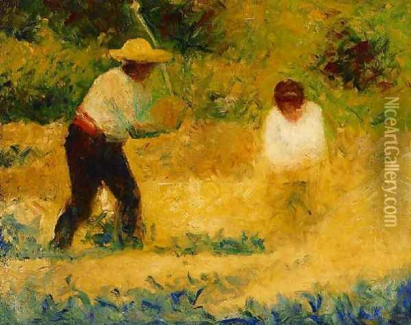 The Stone Breaker III Oil Painting - Georges Seurat