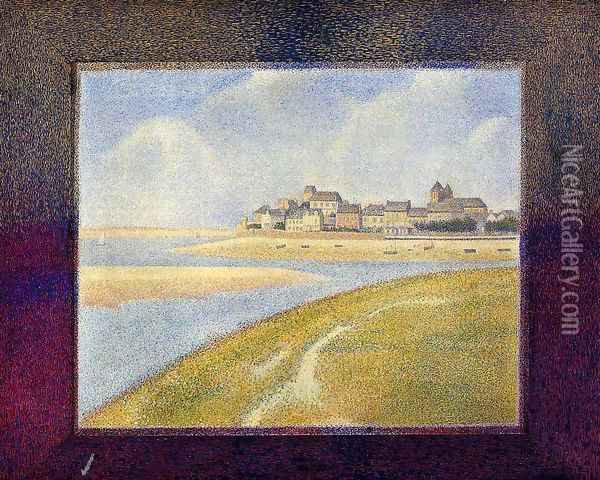 Le Crotoy, Upstream Oil Painting - Georges Seurat