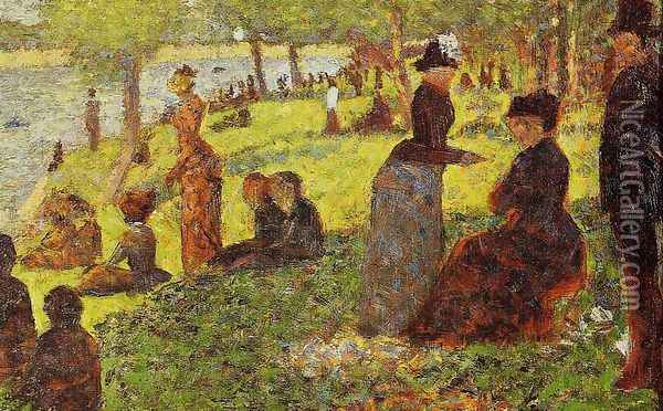 Sketch with Many Figures Oil Painting - Georges Seurat