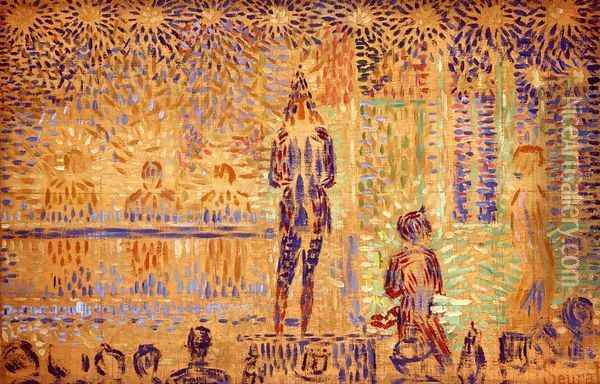 Study for 'Invitation to the Sideshow' Oil Painting - Georges Seurat